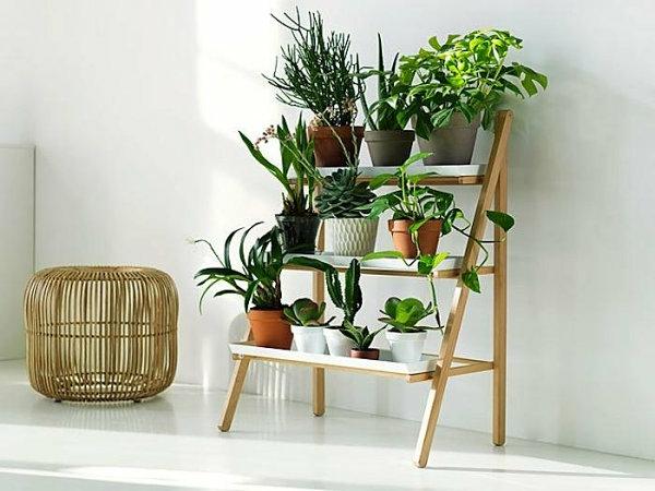 diy projekte pflanzenständer kleine treppe