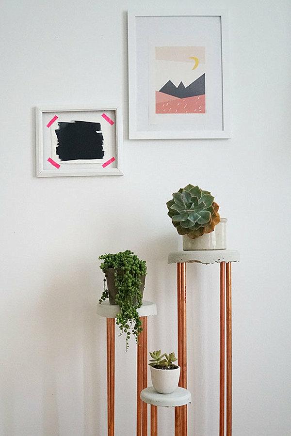 diy projekte pflanzenständer kupfer