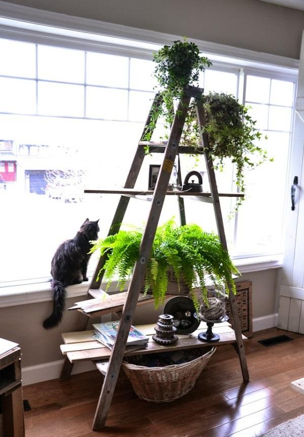 diy projekte pflanzenständer treppe