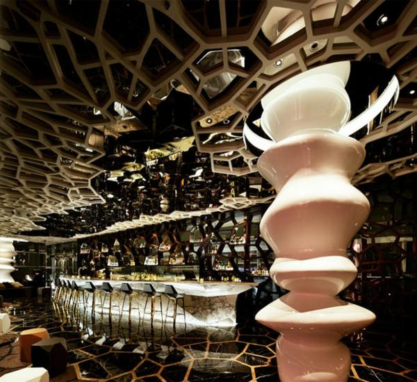 einmalige bar restaurant einrichtung ideen ozone bar china
