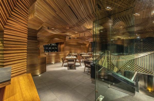 bar restaurant design schöne beleuchtung auriga india