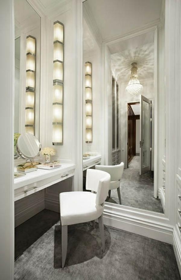 einrichtungsideen ankleidezimmer möbel beleuchtung schminktisch