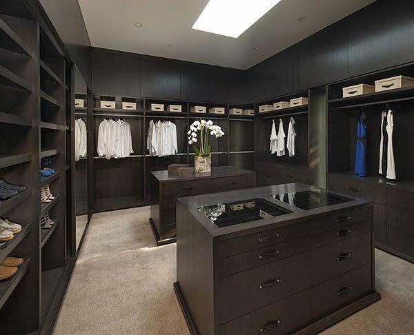 einrichtungsideen ankleidezimmer möbel elegant in schwarz tische