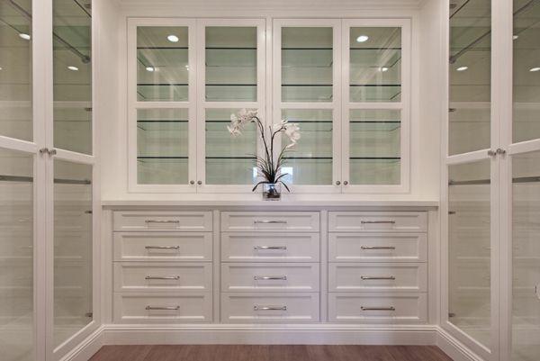 einrichtungsideen ankleidezimmer möbel elegant garderobe glastüre