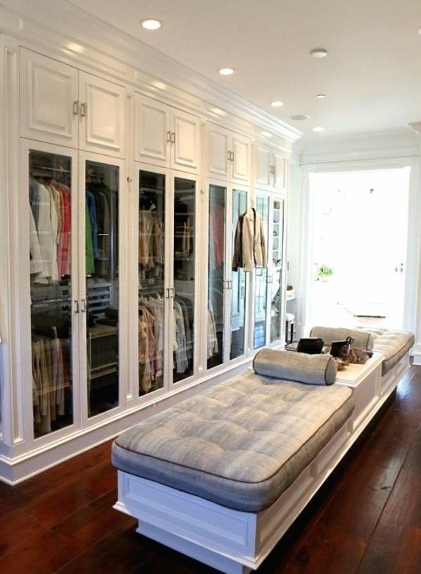 einrichtungsideen ankleidezimmer möbel sitzbank gepolstert garderobe