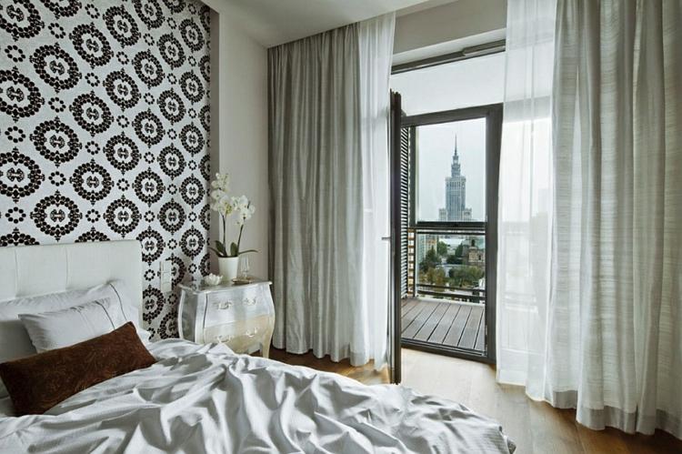 einrichtungstipps modern wohnen schlafzimmer stadtblick warschau