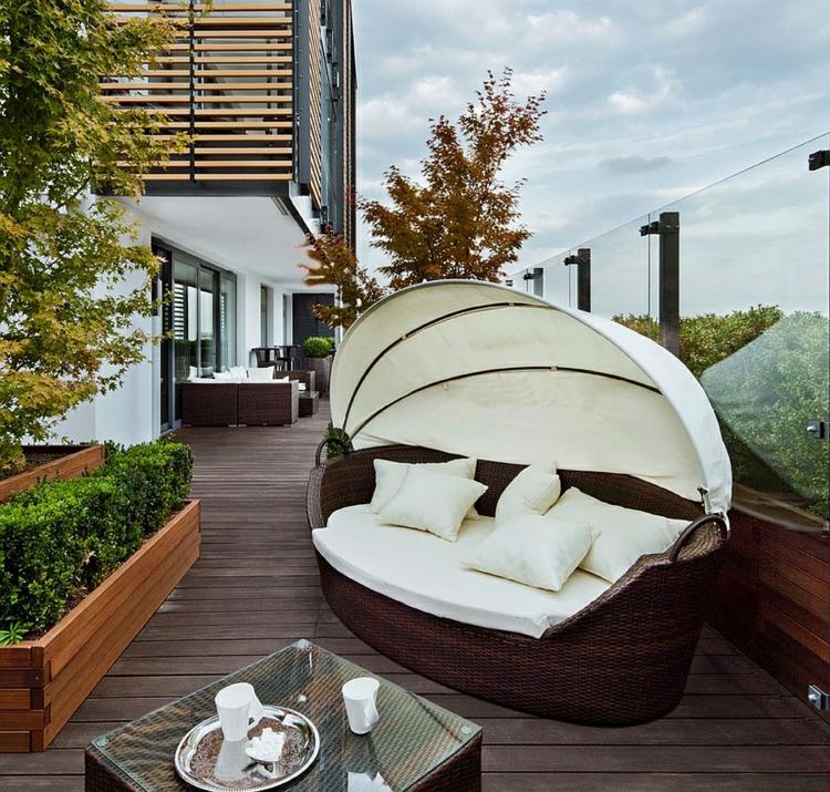 einrichtungstipps modern wohnen terrasse gestalten lounge möbel