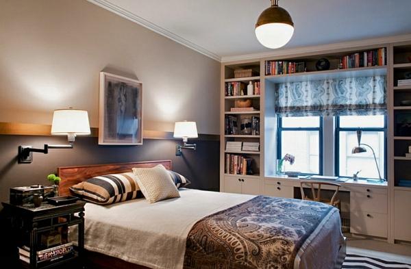 eklektisch hängelampen ideen schlafzimmer fenster