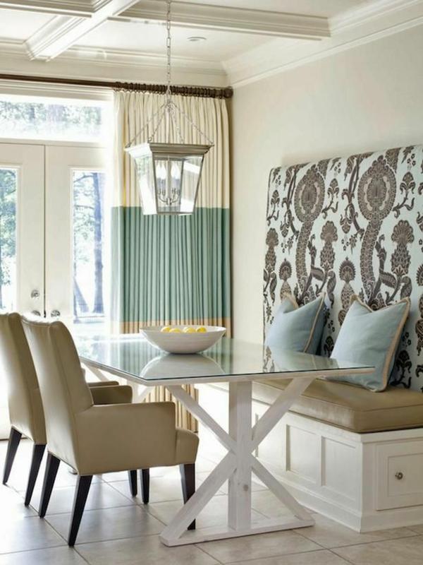 esszimmer gestaltung interieur ideen blau beige - Ideen Esszimmergestaltung