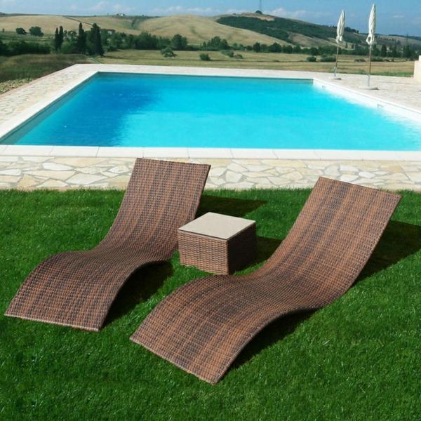 exterior design patio rattanmöbel für outdoor polyrattan liegen