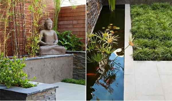 exterior asiatischer garten patio zen dekoideen