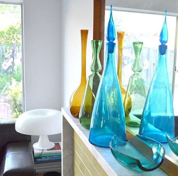 familienzimmer transparent dekoartikel vasen glas bunt