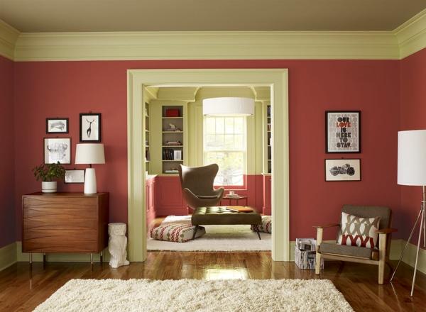 farben kommode ideen stuhl wandgestaltung wohnzimmer farbideen fr wohnzimmer lebhaftes ambiente in jedem zuhause - Farben Ideen Fur Wohnzimmer