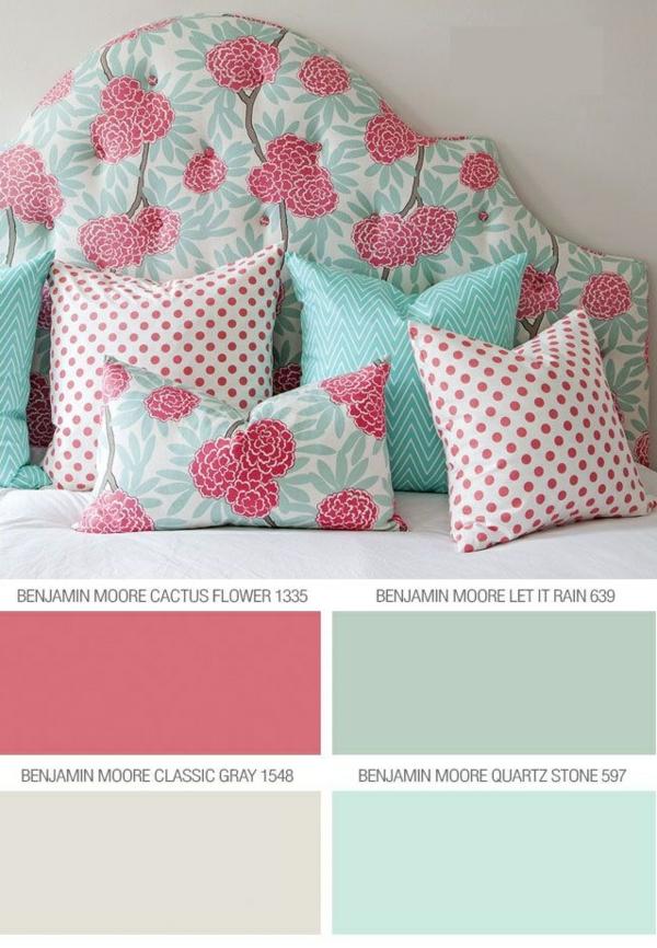 farbgestaltung schlafzimmer trendfarben benjamin moore
