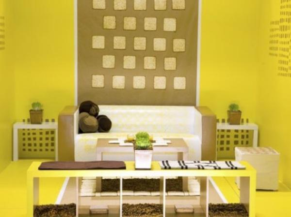 farbgestaltung wandgestaltung ideen gelb wand
