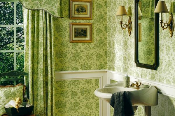 grün frisch farben ideen tapeten feuchraumtapete fürs bad