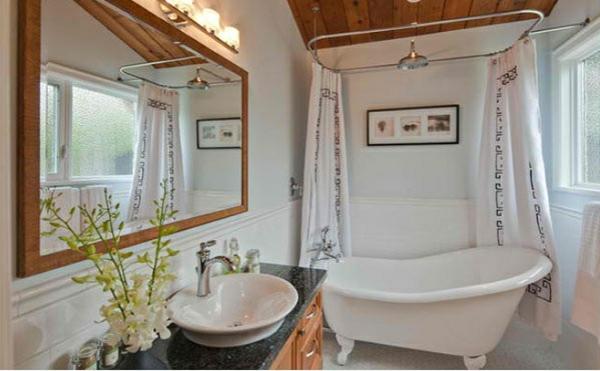 freistehende badewannen viktorisnischen stil gardinenideen dusche