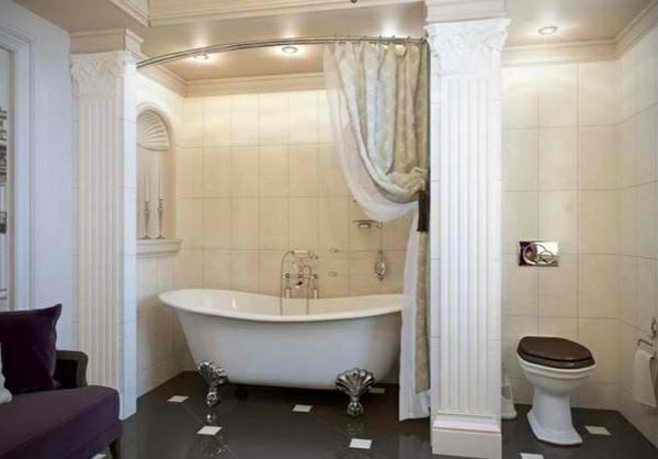freistehende badewannen viktorisnischen stil vorhang elegant schick