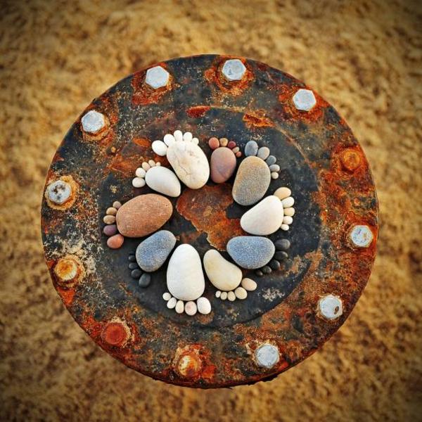 garten gartendekorationen steinfüsse steinfiguren