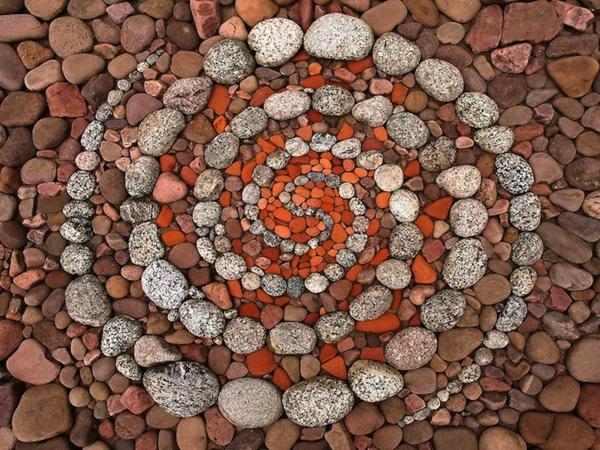 gartenaccessoires dekoideen steine kreisförmig