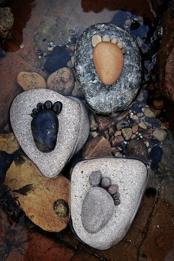 gartendekorationen steinfüsse steinfiguren garten