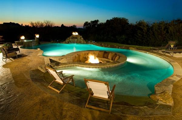 patio pool feuerstelle liegen