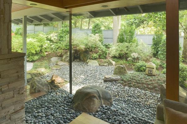 gartenideen außenbereich zen garten