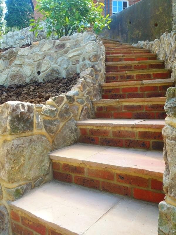 ideen für treppe im garten