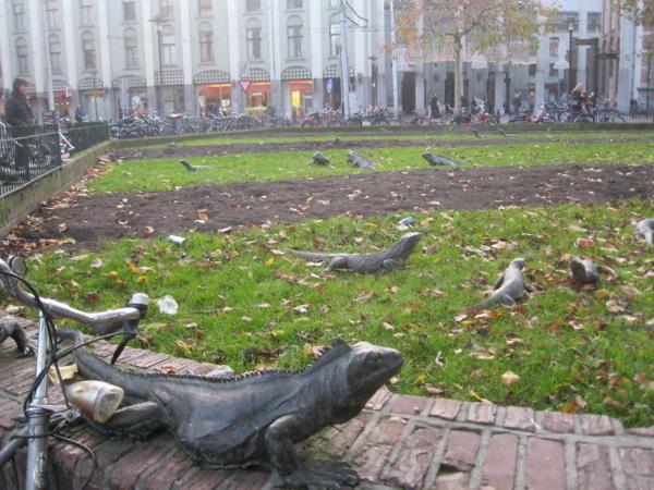 iguana park kunstwerke kunst statue