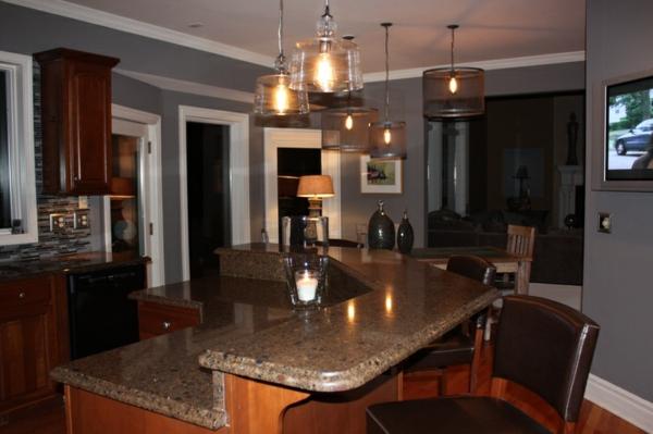 Holzmöbel modern  Holzmöbel Wandfarbe Wohnzimmer ~ Home Design und Möbel Ideen
