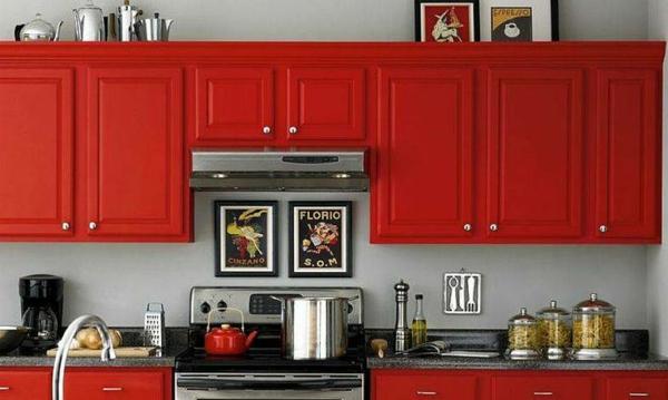 Küchenfronten Erneuern Küchenschränke Neu Streichen In Rot