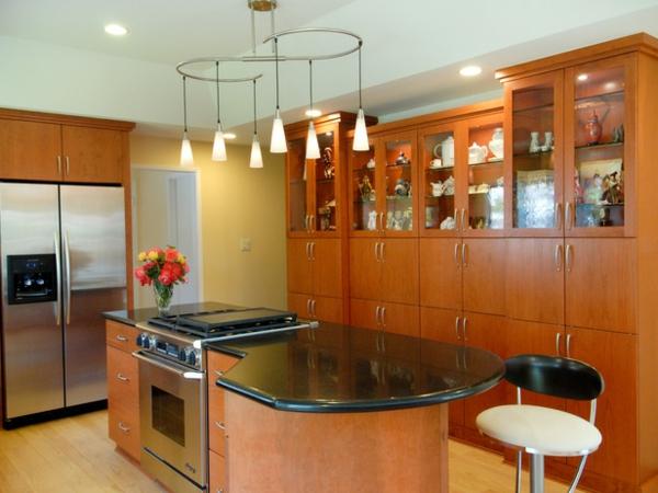 küchenblock freistehend einbaugeräte holzschrank