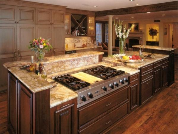 küchengestaltung küchenblock freistehend eingebaugeräte