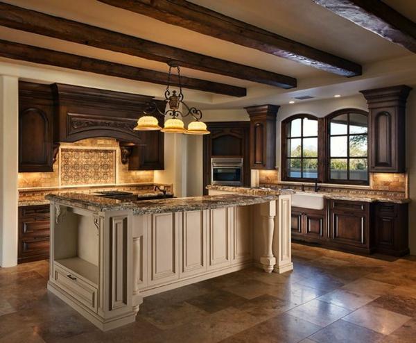 küchenblock freistehend kücheninsel dekorative decke