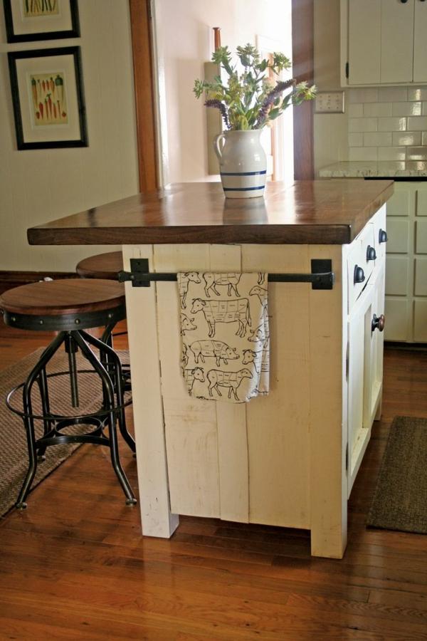 küchenblock freistehend zweifarbig barhocker