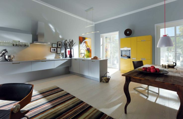 küchenschränke bekleben mit folie gelb akzente küchenfronten erneuern