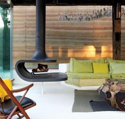 hngender kaminofen moderne luxus kamine - Moderne Luxus Kamine