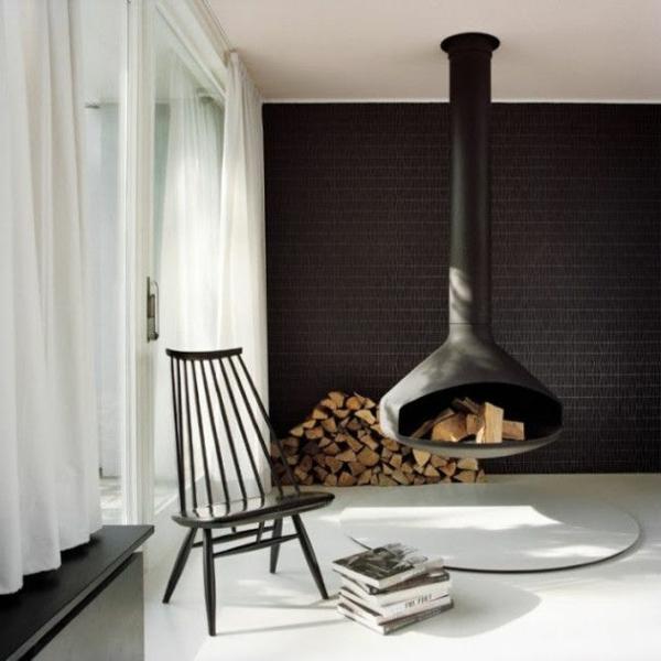 Hangender Kaminofen Moderne Luxus Kamine