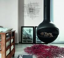 Hängender Kaminofen – moderne Luxus Kamine