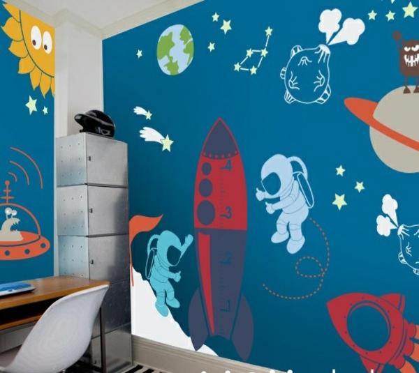 kinderzimmer design kinderzimme rwände gestalten kosmonaut