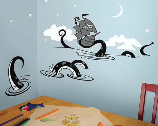 design kinderzimmer wände gestalten oktopoden