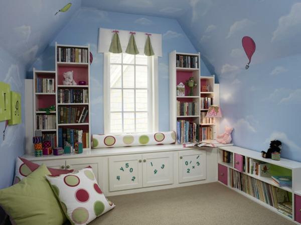 kinderzimmer design kinderzimmerwände gestalten wanddeko wolken himmel
