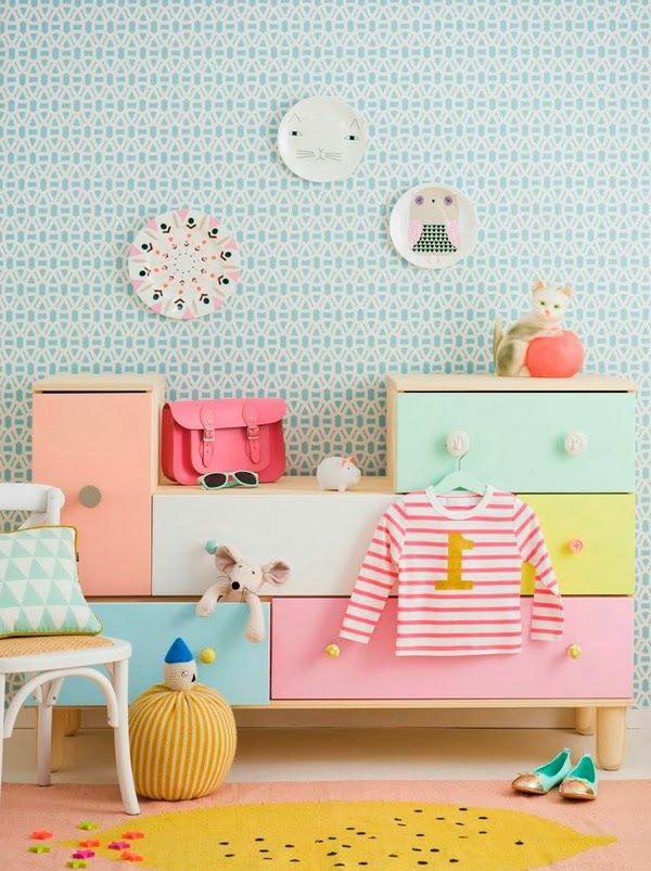 Ideen für Kinderzimmergestaltung ideen deko bunt fröhlich möbel