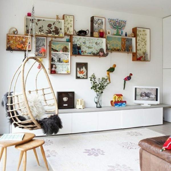 regale ideen deko hängestuhl Ideen für Kinderzimmergestaltung