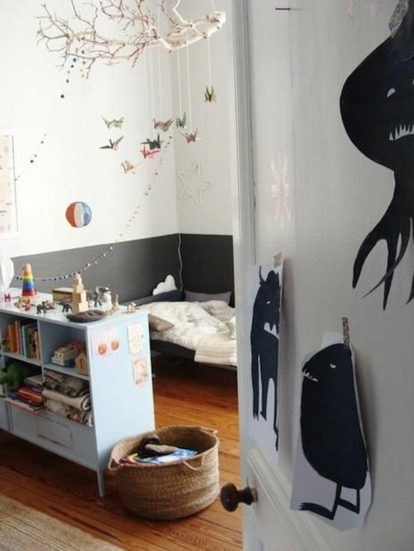 Ideen für Kinderzimmergestaltung deko originell wandgestaltung
