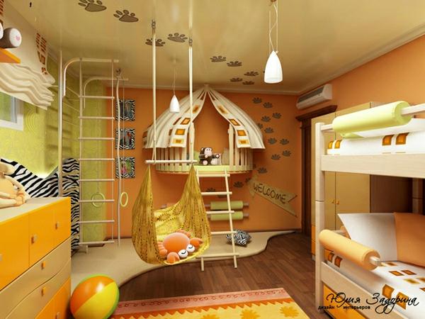 kinderzimmer gelbes ambiente gestalten ideen deko schön farben