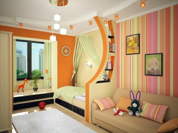 ideen deko streifen wand Ideen für Kinderzimmergestaltung