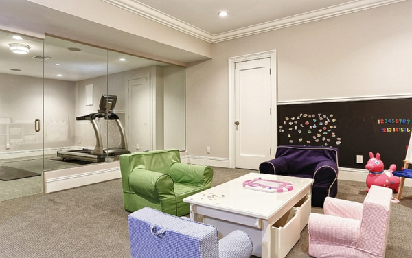 kinderzimmer gestalten untergeschoss sitzecke