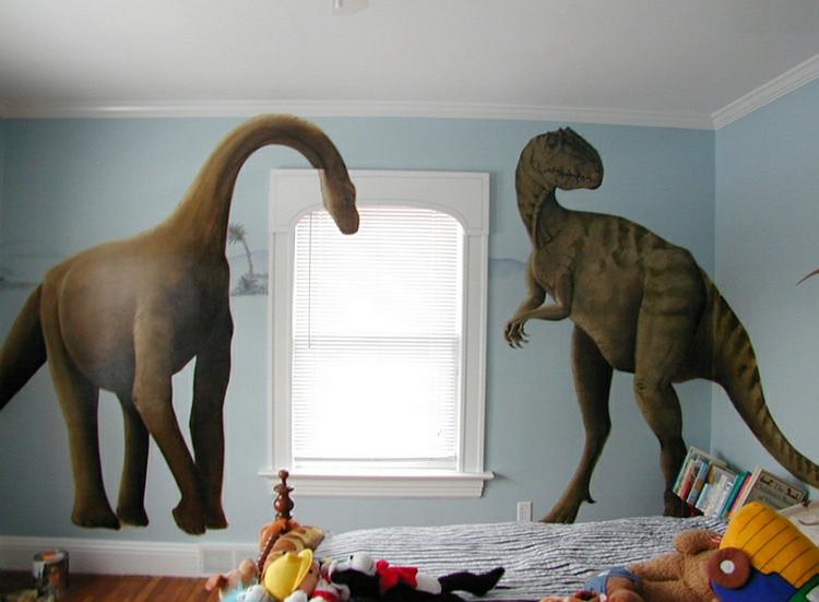 kinderzimmer wandtattoo dinosaurier abbildungen f r jungs. Black Bedroom Furniture Sets. Home Design Ideas