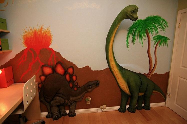 Kinderzimmer Wandtattoo U2013 Beleben Sie Den Raum Mit Dinosaurier .